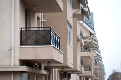 Crowded apartment buildings Royalty Free Stock Photos