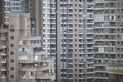 Crowded apartments. Crowded buildings and apartments are a kind of 'city life' in Shanghai, China Stock Photo
