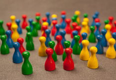 Crowded area Stock Images