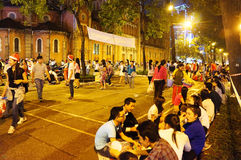Crowded atmosphere, Ho Chi Minh youth lifestyle Royalty Free Stock Image