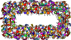 Crowded Banner Kids Stock Photography
