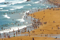 Crowded Beach Royalty Free Stock Image
