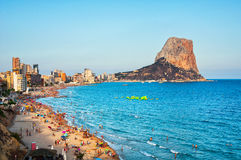Crowded beach of Calpe Royalty Free Stock Photo