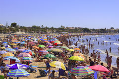 Crowded beach Stock Photography