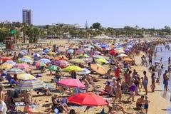 Crowded beach Royalty Free Stock Photo