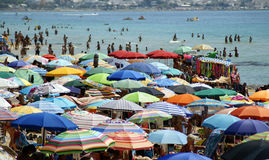 Crowded Beach Royalty Free Stock Photography