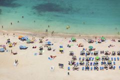 Crowded beach, Grand Canary Stock Images