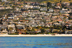 Crowded Beach Homes. In Southern California stock photos