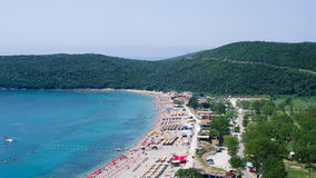 Crowded beach of Montenegro Royalty Free Stock Photos