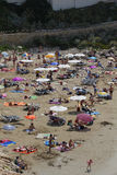 Crowded beach Royalty Free Stock Images