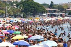 Crowded beach Stock Image
