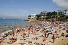 Crowded beach Stock Photos