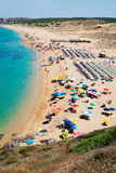 Crowded beach in Sardinia Royalty Free Stock Photography