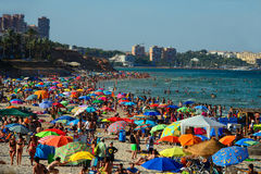 Crowded beach Stock Image