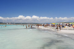 Crowded beach in summer Stock Image