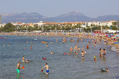 Crowded beach at summer Royalty Free Stock Photo