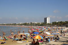 Crowded beach at summer Stock Photos