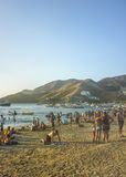 Crowded Beach in Taganga Colombia Stock Images