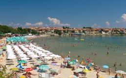 Crowded Black Sea Beach Royalty Free Stock Image