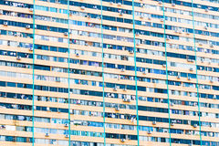 Crowded block of flats. In blue shades Royalty Free Stock Photography