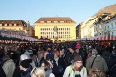 Crowded bolzano Stock Image