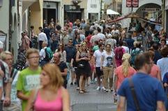 Crowded Bolzano Royalty Free Stock Photography