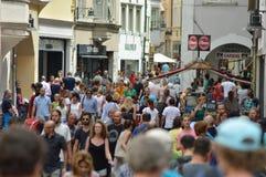 Crowded Bolzano Stock Images