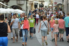 Crowded Bolzano Stock Photo