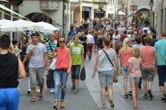 Crowded Bolzano Stock Photo