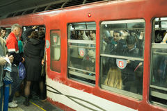 Crowded Buenos Aires Subway Stock Image