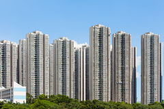 Crowded building in Hong Kong Stock Image