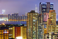 Crowded building in Hong Kong Stock Photo