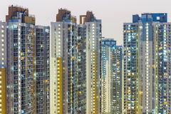 Crowded building in Hong Kong Royalty Free Stock Photos