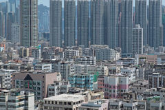 Crowded buildings Stock Images