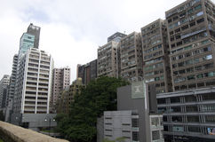Crowded buildings Hong Kong Royalty Free Stock Photos
