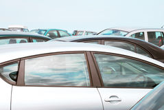 Crowded car park Royalty Free Stock Images
