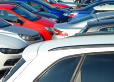Crowded car park Royalty Free Stock Photo