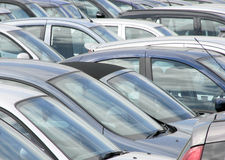 Crowded car park Royalty Free Stock Photography