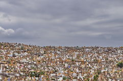 Crowded cemetery in Rabat, Morocco Stock Image
