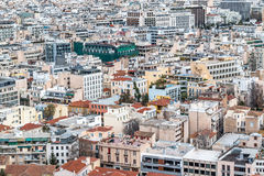 Crowded city buildings landscape Royalty Free Stock Photo