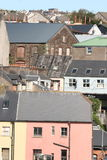 Crowded in the city, ireland. Town houses in cork city, old part of the town Stock Photos