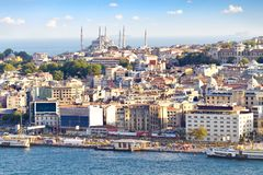 Crowded city of istanbul Stock Photography