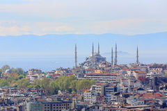 Crowded city of istanbul Royalty Free Stock Photo
