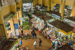 Crowded city market in Dalat Stock Image