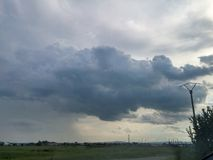 Crowded clouds. The sky is crowded by some racing clouds Royalty Free Stock Photography