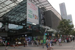 Crowded commercial center in SHENZHEN NANSHAN Royalty Free Stock Images