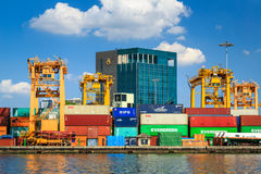 Crowded Containers Royalty Free Stock Image