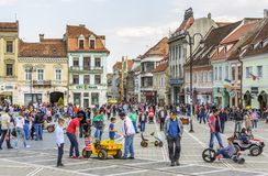 Crowded Council Square, Brasov, Romania Stock Photos