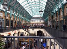 Crowded Covent Garden in London stock photos