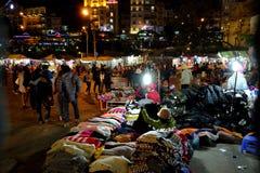 Crowded, Dalat night market, marketplace, shopping stock photo